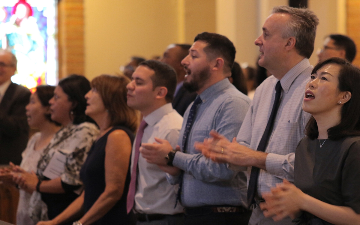 Eight new United Methodist missionaries celebrated and blessed